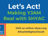 YJAM Let's Act Logo